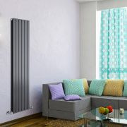 Radiateur Design Vertical Anthracite Delta 160cm x 42cm x 6cm 1323 Watts