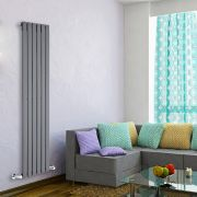 Radiateur Design Vertical Anthracite Delta 160cm x 42cm x 4,7cm 879 Watts