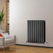 Radiateur Design Horizontal Noir Delta 63,5cm x 63cm x 5,8cm 860 Watts