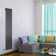 Radiateur Design Vertical Noir Delta 160cm x 35cm x 4,7cm 733 Watts