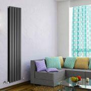 Radiateur Design Vertical Noir Delta 160cm x 35cm x 6cm 1102 Watts