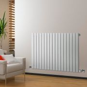 Radiateur Design Horizontal Blanc Delta 63,5cm x 119cm x 4,6cm 1064 Watts