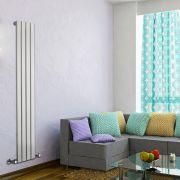 Radiateur Design Vertical Blanc Delta 160cm x 28cm x 4,7cm 586 Watts