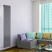 Radiateur Design Vertical Anthracite Delta 178cm x 42cm x 4,7cm 987 Watts