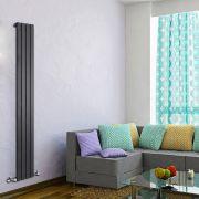 Radiateur Design Vertical Noir Delta 178cm x 28cm x 4,7cm 658 Watts