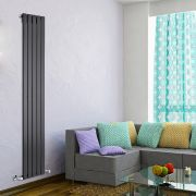 Radiateur Design Vertical Noir Delta 178cm x 35cm x 4,7cm 823 Watts