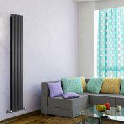 Radiateur Design Vertical Noir Delta 178cm x 28cm x 6cm 990 Watts
