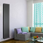 Radiateur Design Vertical Noir Delta 178cm x 42cm x 6cm 1484 Watts