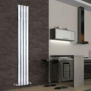 Radiateur Design Vertical Chromé Delta 180cm x 30cm x 5cm 445 Watts