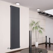 Radiateur Design Vertical Anthracite Savy 178cm x 47,2cm x 8,1cm 1391 Watts