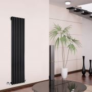 Radiateur Design Vertical Noir Savy 178cm x 47,2cmcm x 8cm 1391 Watts