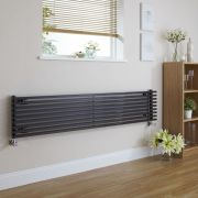 Radiateur Design Horizontal Noir Parallel 34,2cm x 178cm x 8,4cm 1227 Watts