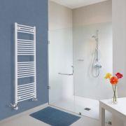 Hudson Reed Sèche-Serviettes Mixte Incurvé Blanc Etna 150cm x 50cm x 4,5cm 828 Watts