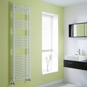 Hudson Reed Sèche-Serviettes Incurvé Blanc Etna 180cm x 50cm x 4,5cm 986 Watts