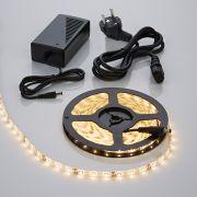 Biard Bande lumineuse 5 mètres 300 LED étanche blanc chaud 3528 avec alimentation électrique