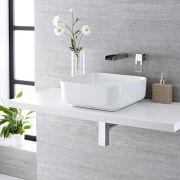 Vasque salle de bains à poser 40 x 40cm Milton & Mitigeur Cascade Mural