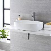 Vasque ovale 59 x 41cm Otterton & Mitigeur Haut