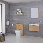 WC Moderne avec meuble Newington - 60cm - Chêne Doré