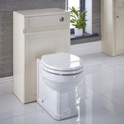 Meuble Coffrage Ivoire pour WC à poser 81.5x50x30cm