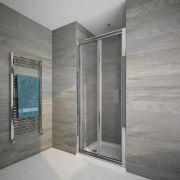 Porte de douche pliante 100cm Portland