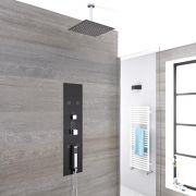 Douche Thermostatique Encastrable 90x22cm - Douchette - 5 Buses & Pommeau plafond 20cm - Gamme Llis