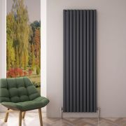 Radiateur Aluminium Design Anthracite 180 x 59cm 2506 watts Vitality Air