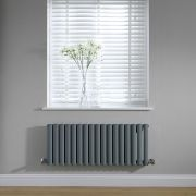 Radiateur horizontal anthracite Vitality 40 x 100cm 691 watts
