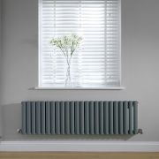 Radiateur horizontal anthracite Vitality 40 x 141cm 975 watts