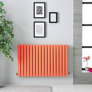 Radiateur horizontal Sloane Orange 63.5 x 100cm 1022 watts