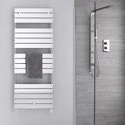 Sèche-serviettes électrique Chromé 151.2 x 60cm Lustro