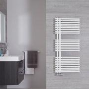 Iseo - Sèche-serviettes Design Blanc Minéral - 112cm x 50cm