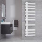 Iseo - Sèche-serviettes Design Blanc Minéral - 170cm x 50cm