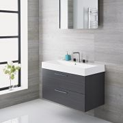 Meuble-lavabo Langley Gris 90x48x60cm