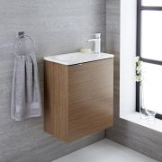 Meuble-lavabo 50x30x60cm Randwick Chêne