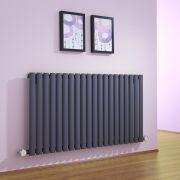 Radiateur Design Électrique Horizontal Anthracite Vitality 63,5cm x 118cm x 5,6cm