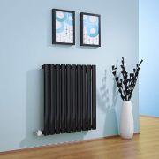 Radiateur Design Électrique Horizontal Noir Vitality 63,5cm x 59.5cm x 5,5cm