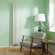 Radiateur Design Vertical Raccordement Central Blanc Vitality Caldae 178cm x 23,6cm x 7,8cm 934 Watts