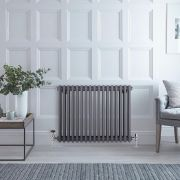 Radiateur Horizontal Style Fonte Anthracite Windsor 60cm x 76,5cm x 10cm 1243 Watts