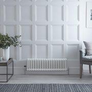 Radiateur Horizontal Style Fonte Blanc Windsor 30cm x 101,3cm x 6,8cm 700 Watts