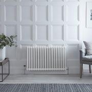 Radiateur Horizontal Style Fonte Blanc Windsor 60cm x 101,3cm x 6,8cm 1249 Watts