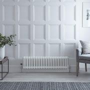 Radiateur Horizontal Style Fonte Blanc Windsor 30cm x 119,3cm x 6,8cm 827 Watts