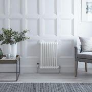 Radiateur Horizontal Style Fonte Blanc Windsor 60cm x 40,5cm x 6,6cm 568 Watts