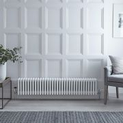 Radiateur Horizontal Style Fonte Blanc Windsor 30cm x 148,5cm x 13,3cm 1793 Watts