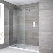 Paroi de douche 100x195cm & Receveur 160x80cm avec zone de séchage