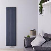 Radiateur Design Vertical Raccordement Central Aluminium Anthracite Aurora 160cm x 47cm x 4,6cm 1701 Watts