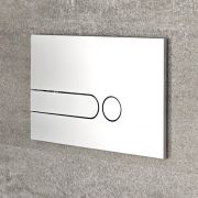 Plaque de Déclenchement WC Argentée 15x24cm Cluo