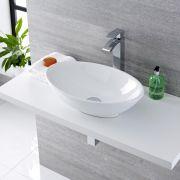Vasque ovale 52 x 32cm Kenton & Mitigeur Haut Razor