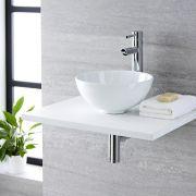 Vasque  à poser ronde Ø 32cm Ashbury & Mitigeur Haut