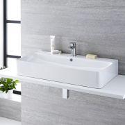 Vasque à poser 80 x 41cm Exton & Mitigeur Razor