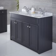 Meuble double vasque 120x50cm Charlton Anthracite